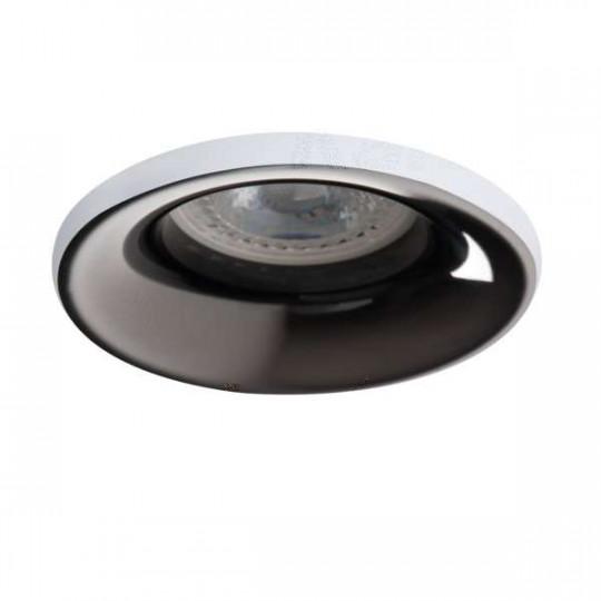 Support de spot encastrable perçage 70mm rond Blanc / anthracite