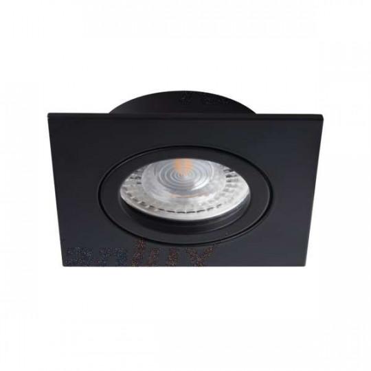 Support de spot encastrable perçage 70mm carré Noir