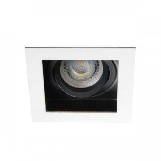 Support de spot encastrable perçage 90x90mm carré Blanc