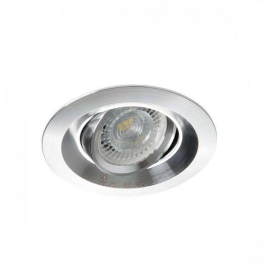 Support de spot encastrable perçage 75mm rond Aluminium