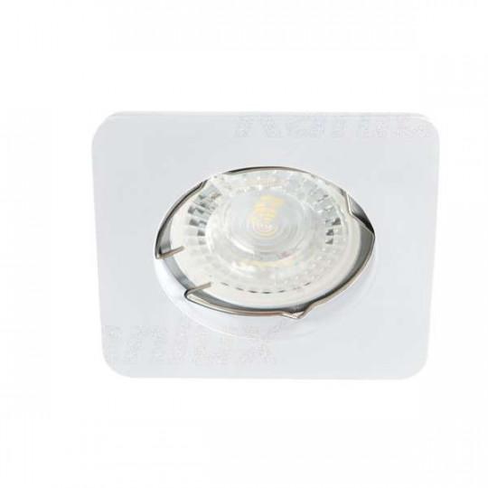 Support de spot encastrable perçage 60-70mm carré Blanc mat