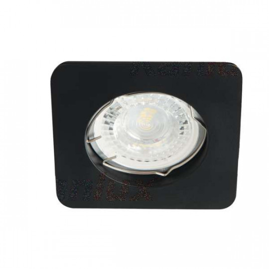 Support de spot encastrable perçage 60-70mm carré Mat noir