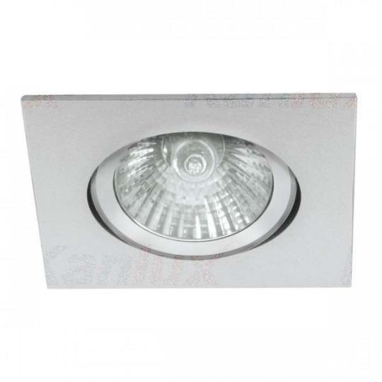 Support de spot encastrable perçage 70-75mm carré Aluminium