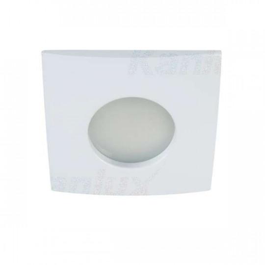 Support de spot encastrable perçage 71-74mm - étanche IP44 carré Blanc