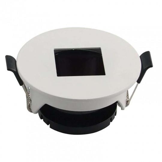Support de Spot Fixe GU10/MR16 Rond Blanc Réflecteur Carré