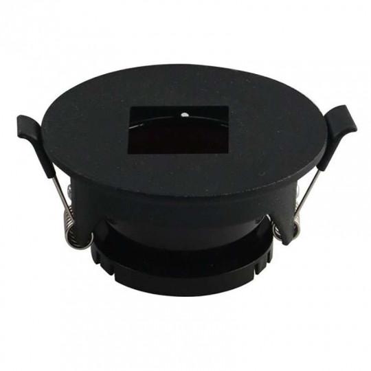 Support de Spot Fixe GU10/MR16 Rond Noir Réflecteur Carré