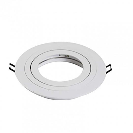 Support AR111 spot rond encastrable orientable 3 anneaux