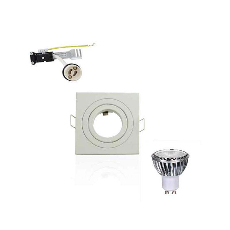 Kit Spot LED GU10 5W COB équivalent...