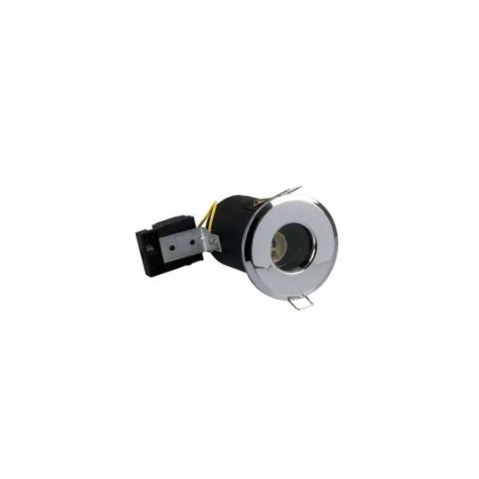 Spot RT2012 étanche IP65 BBC fixe aluminium Chrome ф73mm