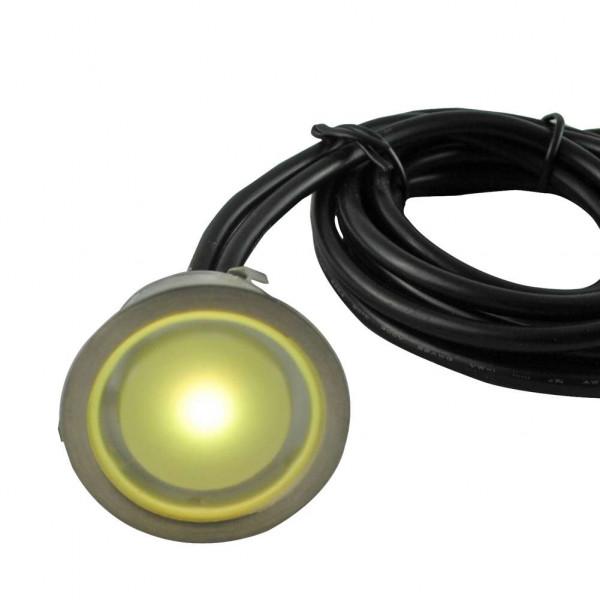 Mini Spot LED Encastrable 1W 12V - Blanc Chaud 3000K