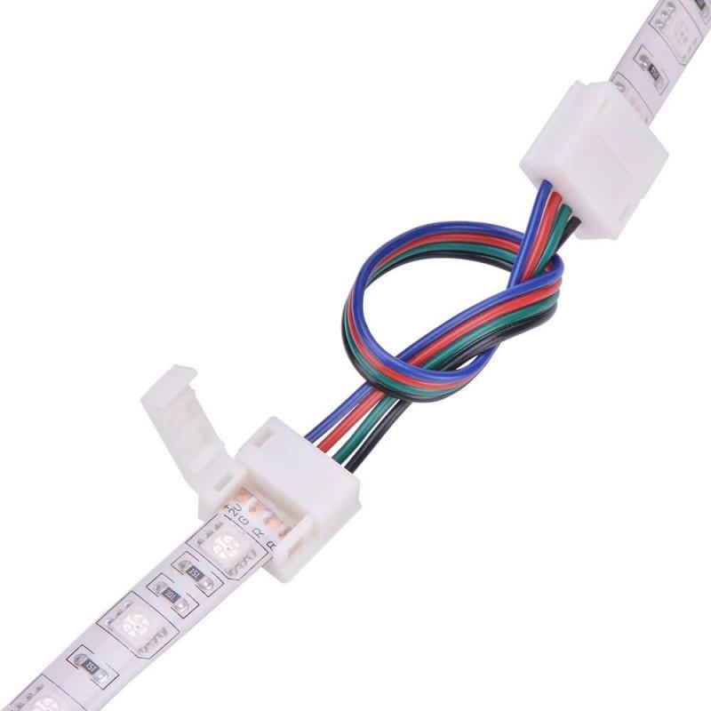 Raccord pour ruban LED RGB 10mm - 15cm