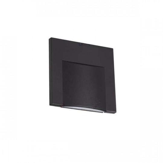 Applique LED escalier Carré 0,8W DC12V Noir ERINUS - Blanc Naturel 4000K