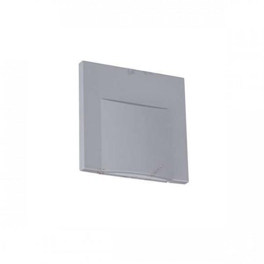 Applique LED escalier Carré 0,8W DC12V Gris ERINUS - Blanc Naturel 4000K
