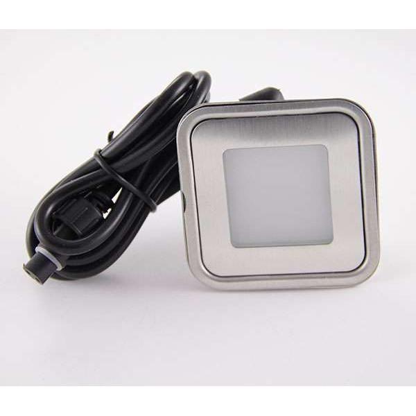 Spot LED encastrable RGB carré ultra-plat
