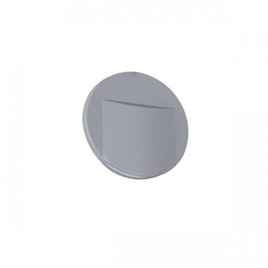 Applique LED escalier Rond ∅75mm 0,8W DC12V Gris ERINUS - Blanc Chaud 3000K