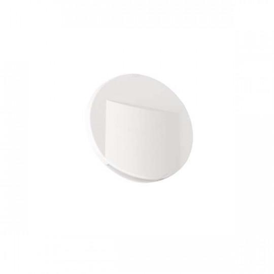 Applique LED escalier Rond ∅75mm 0,8W DC12V Blanc ERINUS - Blanc Chaud 3000K