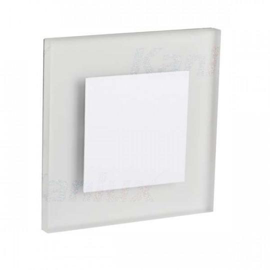 Applique LED escalier Carré 0,8W DC12V Blanc APUS - Blanc du Jour 6500K