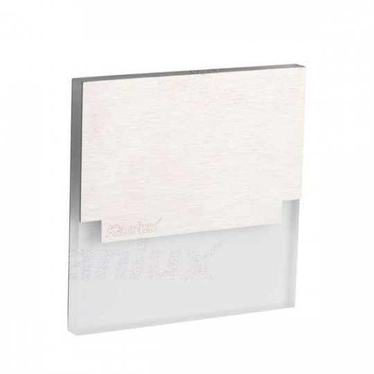 Applique LED escalier Carré 1,3W AC220-240V Acier inoxydable SABIK - Blanc Chaud 3000K