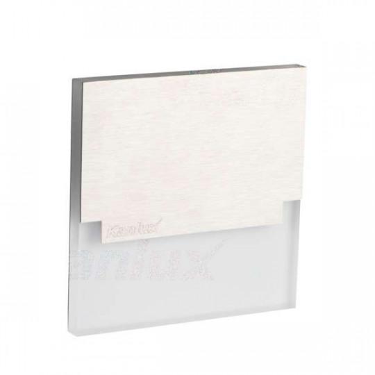 Applique LED escalier Carré 1,3W AC220-240V Acier inoxydable SABIK - Blanc du Jour 6500K