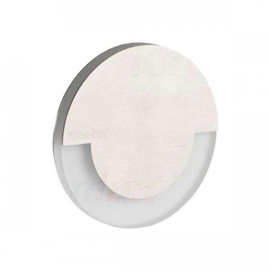 Applique LED escalier Rond ∅70mm 1,3W AC220-240V Acier inoxydable SOLA - Blanc Chaud 3000K