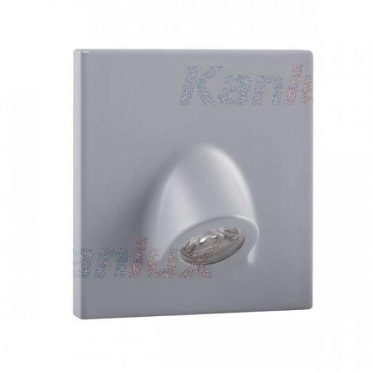 Applique LED escalier Carré 0,7W DC12V Gris MEFIS - Blanc Chaud 3000K