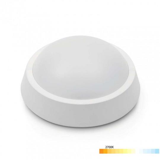 Applique LED Saillie 8W Ronde Étanche IP65 650lm - Blanc Chaud 2700K