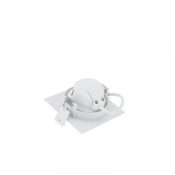 Plafonnier carré encastrable blanc LED 7W COB éclairage 35W - Blanc Chaud 2700K