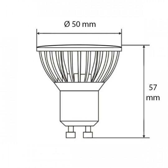 Spot LED GU10 6W éclairage 50W Teinte de lumière-Blanc Froid (6400K)