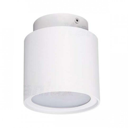 Plafonnier saillie rond pour 1 ampoule GU10 Blanc