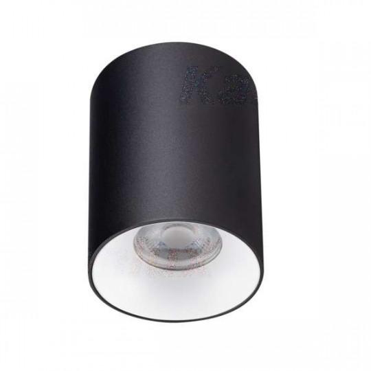 Plafonnier saillie rond pour 1 ampoule GU10 Noir / blanc