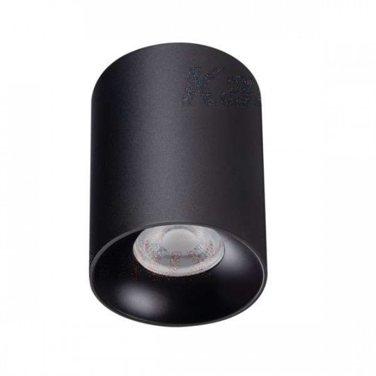 Plafonnier saillie rond pour 1 ampoule GU10 Noir