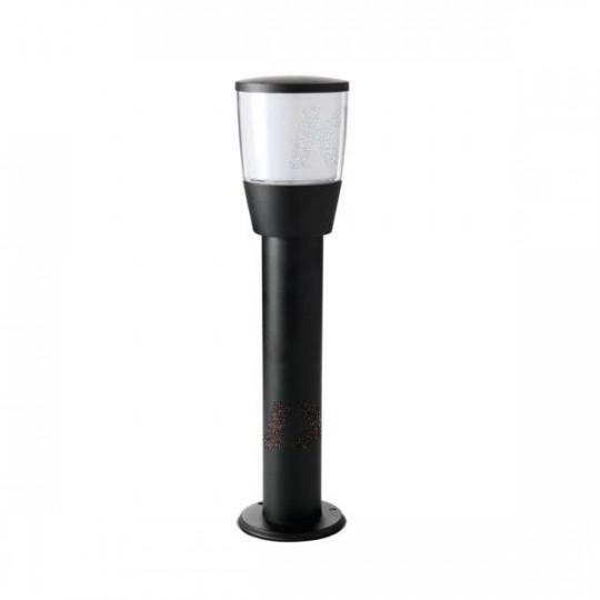 Potelet à fixer au sol pour 1 ampoule E27 étanche IP44 Noir