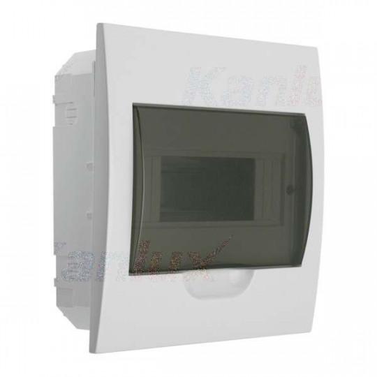 Tableau Électrique encastrable Blanc / gris 8P Modules