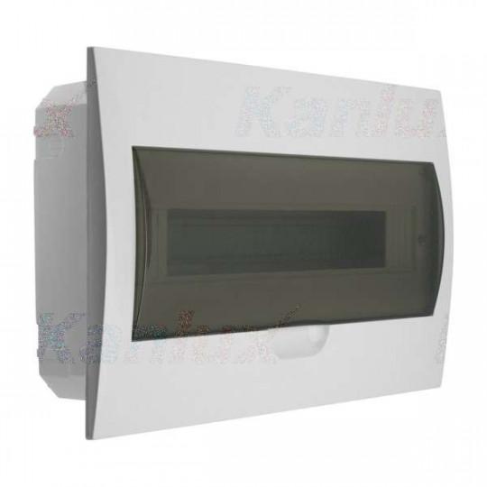 Tableau Électrique encastrable Blanc / gris 18P Modules