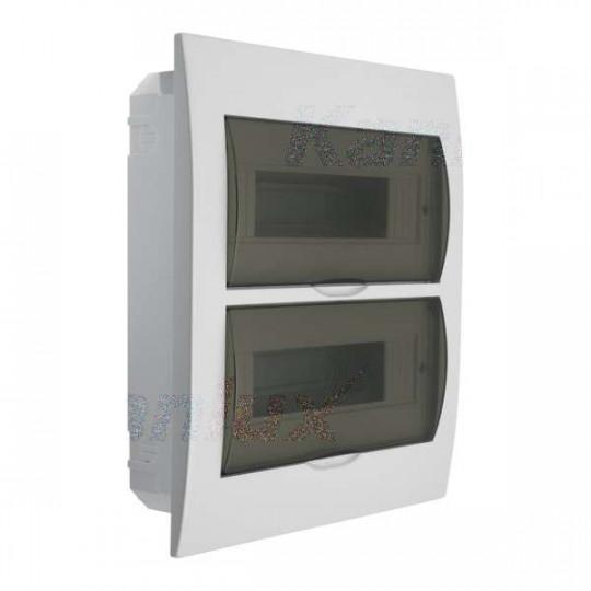 Tableau Électrique encastrable Blanc / gris 2x12P Modules