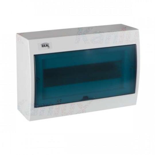 Tableau Électrique mural Blanc / bleu 12P Modules