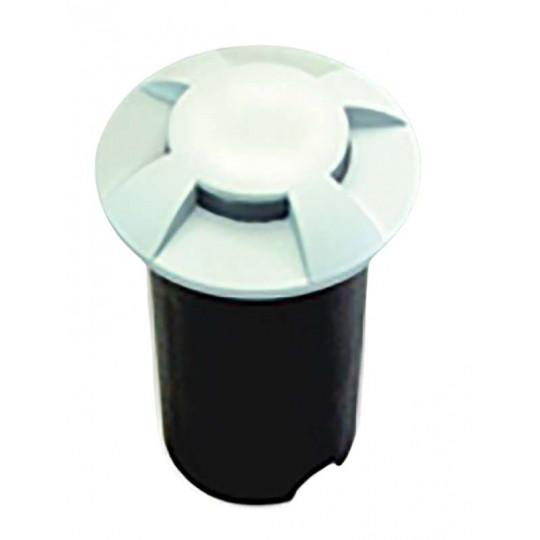 Petit Spot 0,75W LED Encastrable Blanc 4 Directions - Blanc Chaud 2700K