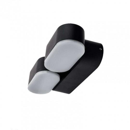 Applique LED murale 12W étanche IP54 Noir - Blanc Naturel 4000K