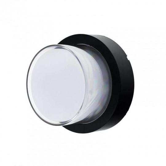 Applique LED murale 15W Rond étanche IP65 Noir - Blanc Chaud 3000K