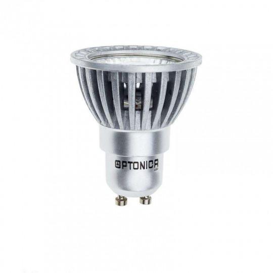 Spot LED GU10 6W Argent Argent équivalent à 50W - Blanc du Jour 6000K