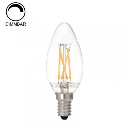Ampoule LED Dimmable E14 C35 4W équivalent à 32W - Blanc Chaud 2800K