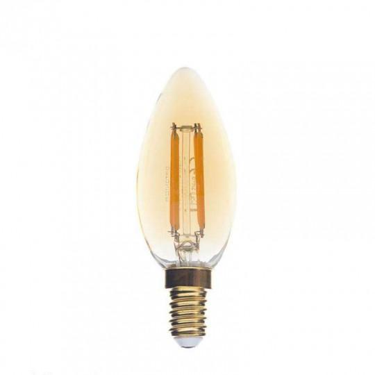 Ampoule LED E14 C35 4W Verre doré équivalent à 27W - Blanc Chaud 2500K