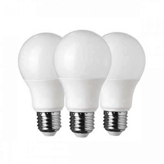 Lot de 3 Ampoules LED E27 A60 10W équivalent à 65W - Blanc Chaud 2700K
