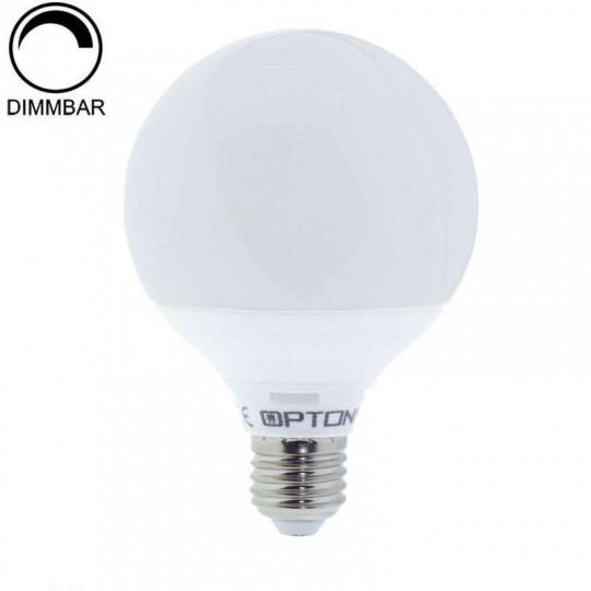 Ampoule LED Dimmable E27 G95 12W équivalent à 96W - Blanc Chaud 2700K