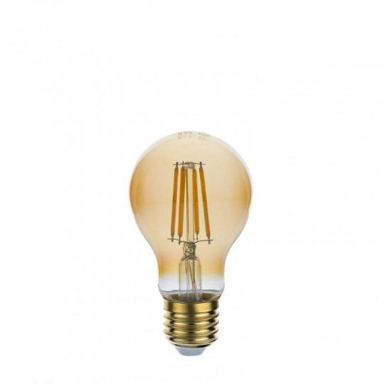 Ampoule LED E27 A60 8W Verre doré équivalent à 54W - Blanc Chaud 2500K