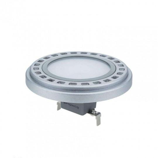 Ampoule LED G53 AR111 15W Argent équivalent à 80W - Blanc Chaud 2700K