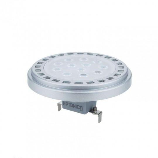 Ampoule LED G53 AR111 12W Argent équivalent à 80W - Blanc Naturel 4500K