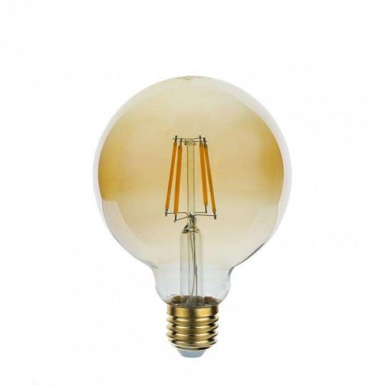 Ampoule LED E27 G95 4W Verre doré équivalent à 27W - Blanc Chaud 2500K