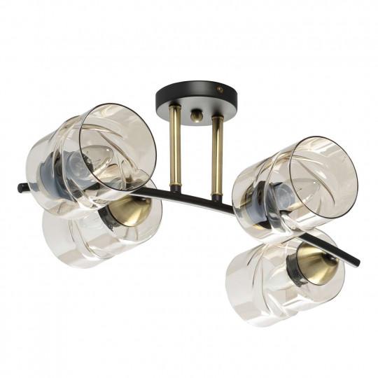Megapolis Olympia Métal Cuivre  doré . Globe verre blanc travaillé 8*40W E14   638017704