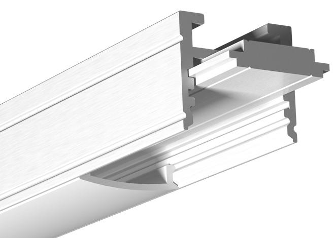 Profilé aluminium avec insert 1400
